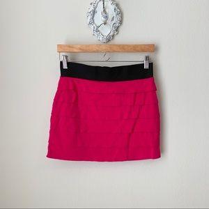 Express pink mini skirt
